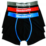 Mens 3 Pack Boxer Royal/Red/Khaki