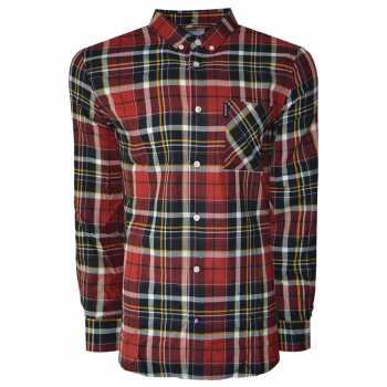 L/S Check Shirt Red/Black/White