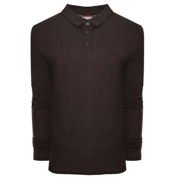 L/S Pique Polo Brown