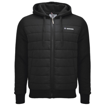 Baffle Hooded Jacket Black