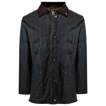 Made in England waxed jacket-Check-Womens