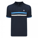 Stripe Polo-Navy-Long