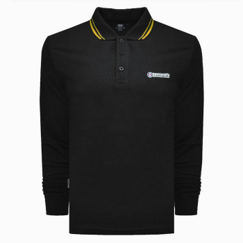 Twin Tipped Polo L/S-Black-Regular&Long