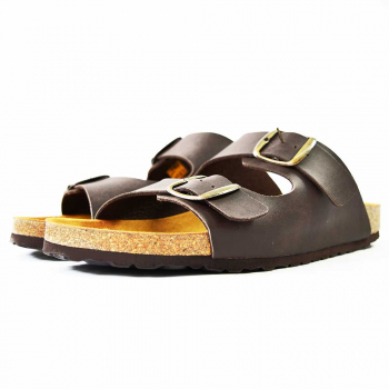 Avalon Twin Buckle Sandal Brown
